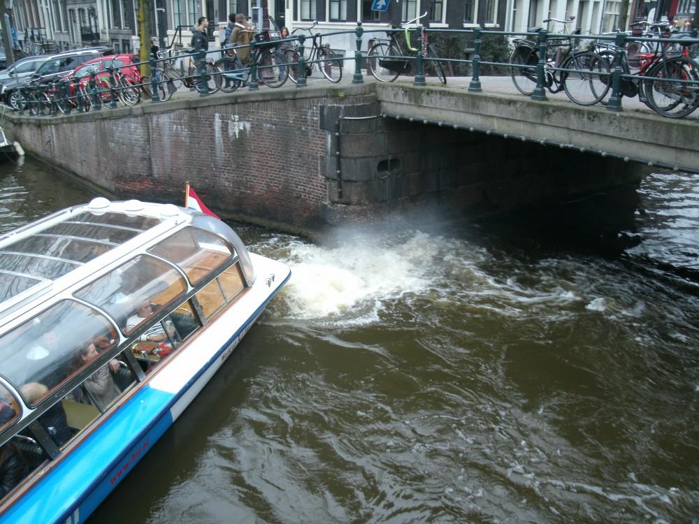 Een kerende diesel-rondvaartboot